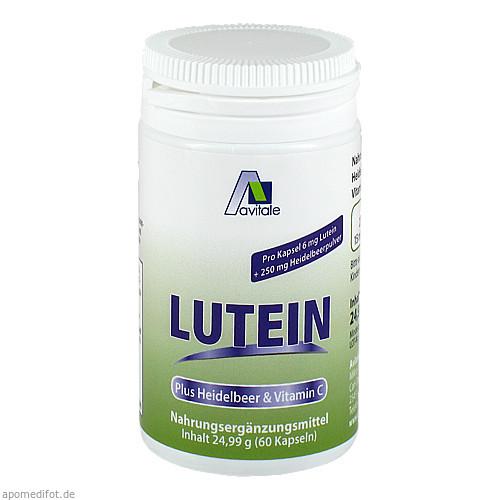 Lutein Kaps 6mg+Heidelbeer, 60 ST, Avitale GmbH