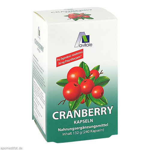 Cranberry Kapseln 400mg Sparpackung, 240 ST, Avitale GmbH