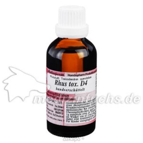 RHUS TOXICODENDRON D 4, 50 ML, Anthroposan Homöopharm Produktionsgesellschaft mbH
