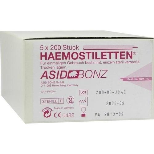 HAEMOSTILETTEN, 5X200 ST, Asid Bonz GmbH