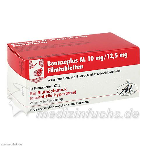Benazeplus AL 10mg/12.5mg Filmtabletten, 98 ST, Aliud Pharma GmbH