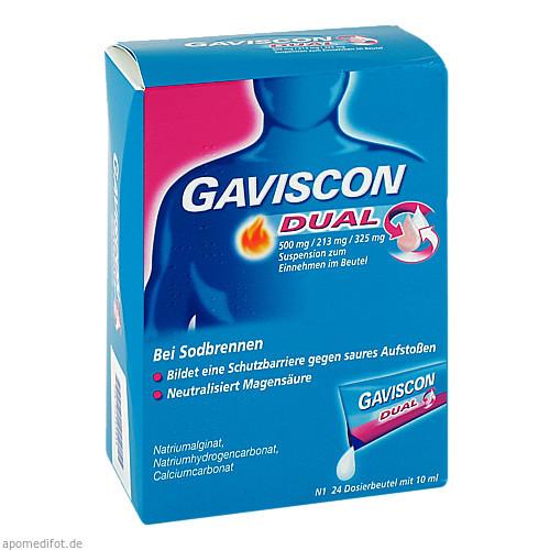Gaviscon Dual 500mg/213mg/325mg, 24X10 ML, Reckitt Benckiser Deutschland GmbH
