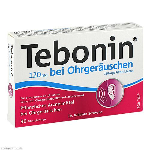 Tebonin 120 mg bei Ohrgeräuschen, 30 ST, Dr.Willmar Schwabe GmbH & Co. KG