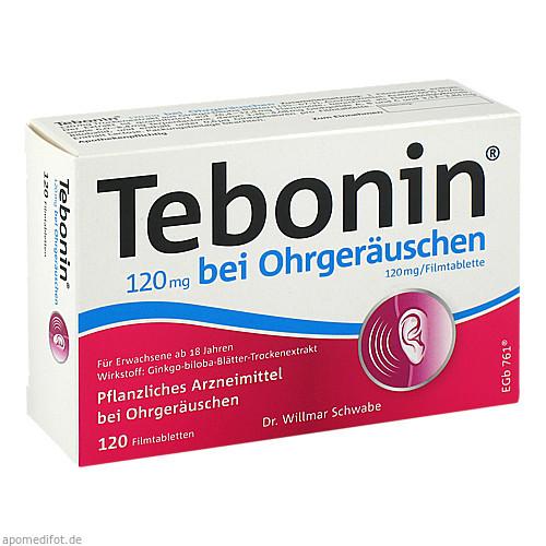 Tebonin 120 mg bei Ohrgeräuschen, 120 ST, Dr.Willmar Schwabe GmbH & Co. KG