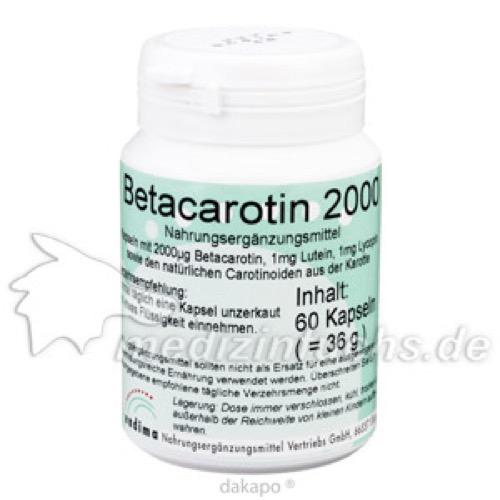 Betacarotin 2000, 60 ST, Endima Vertriebsgesellschaft mbH