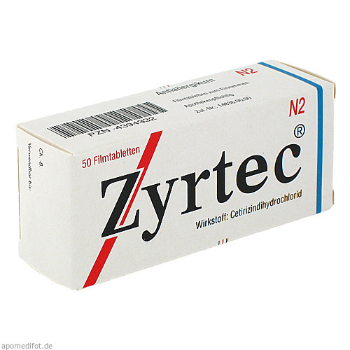 ZYRTEC, 50 ST, UCB Pharma GmbH