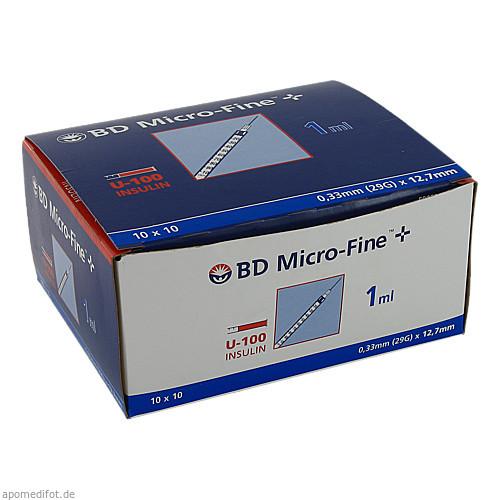 BD Micro-Fine+ U100 Ins.Spr.12.7mm, 100X1 ML, Becton Dickinson GmbH