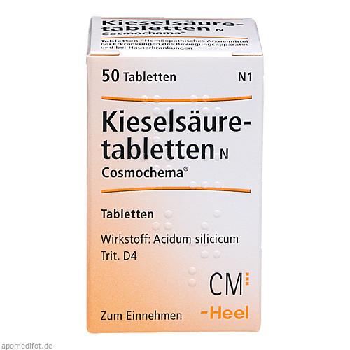 KIESELSAEURETABLETTEN N COSMOCHEMA, 50 ST, Biologische Heilmittel Heel GmbH