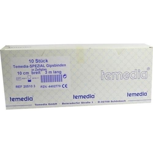 GIPSBINDE TEM SPEZ 3MX10CM, 10 ST, Temedia-Werke GmbH