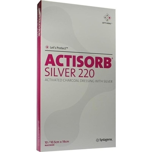 ACTISORB 220 SILVER 19x10.5cm steril, 10 ST, Bios Medical Services GmbH