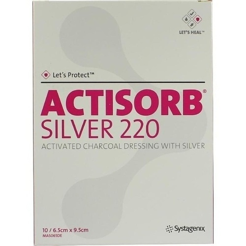 ACTISORB 220 SILVER 9.5x6.5cm steril, 10 ST, Bios Medical Services GmbH