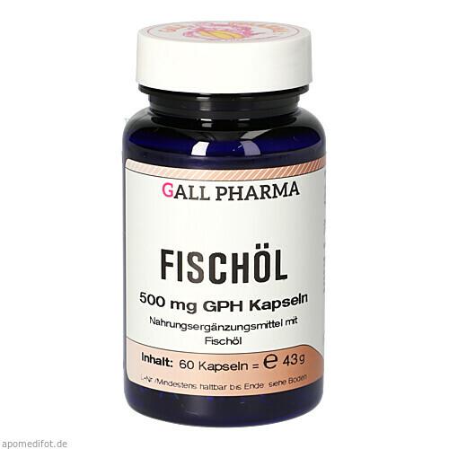 Fischöl 500mg GPH Kapseln, 60 ST, Hecht-Pharma GmbH