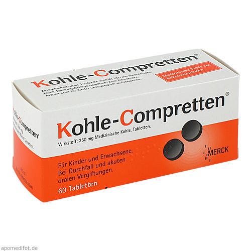 KOHLE COMPRETTEN, 60 ST, Merck Selbstmedikation GmbH