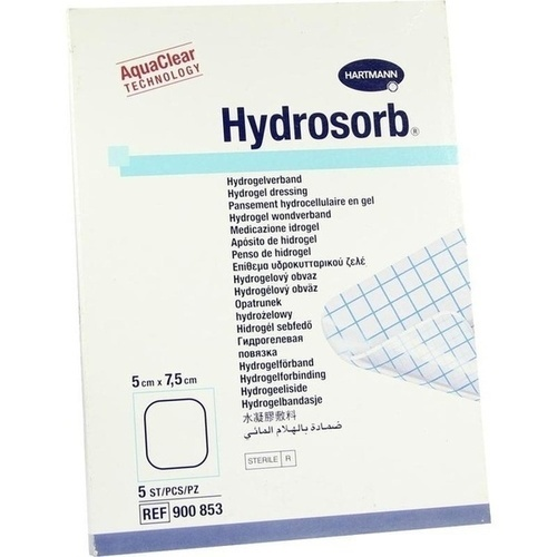 HYDROSORB 5X7.5CM WUNDVERB, 5 ST, Paul Hartmann AG