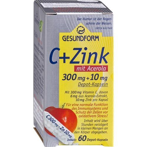Gesundform C+Zink mit Acerola Depot-Kapseln, 60 ST, Provita Apoth.Market.U.Handels GmbH
