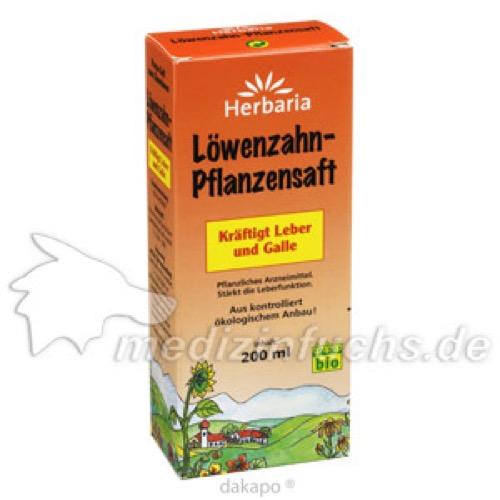 LÖWENZAHN PFLANZENSAFT, 200 ML, ALLPHARM Vertriebs GmbH