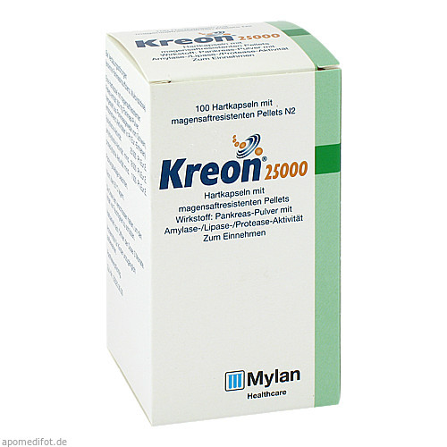 KREON 25000, 100 ST, Mylan Healthcare GmbH