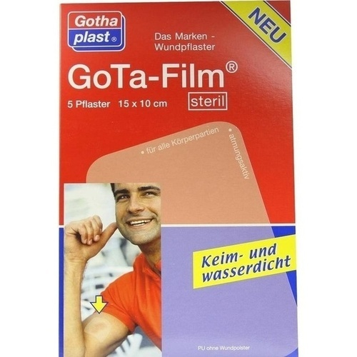 GoTa-FILM steril 15cmx10cm, 5 ST, Gothaplast GmbH