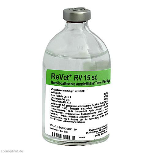 REVET RV 15 sc Inj.-Lösung vet., 100 ML, Dr.RECKEWEG & Co. GmbH