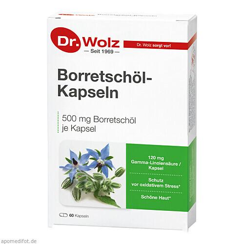 Borretschöl Kapseln Dr.Wolz, 60 ST, Dr. Wolz Zell GmbH
