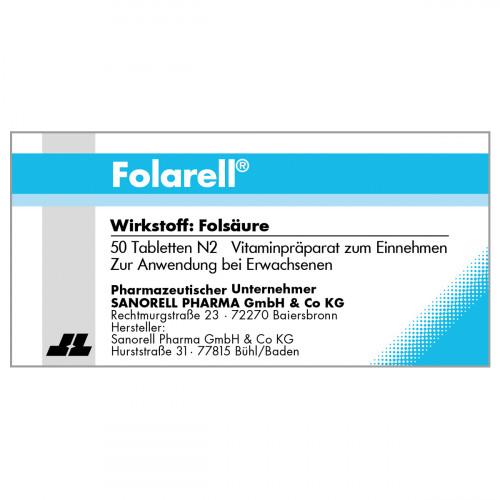Folarell, 50 ST, sanorell pharma GmbH & Co KG