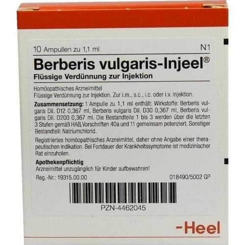 BERBERIS VULG INJ, 10 ST, Biologische Heilmittel Heel GmbH