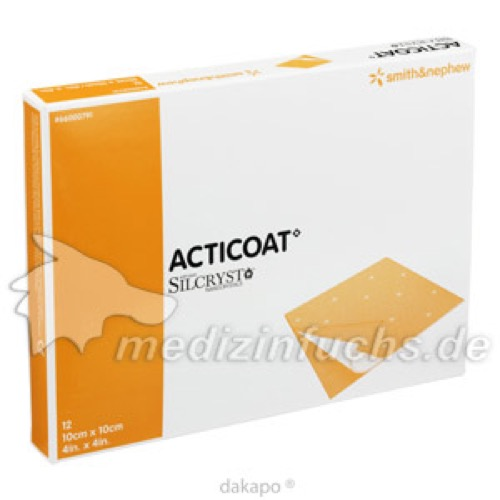 Acticoat Silberverband 10x10cm, 12 ST, Bios Medical Services GmbH