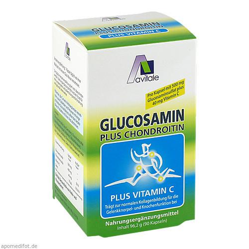 Glucosamin Kaps.500mg+ Chondroitin 400mg, 90 ST, Avitale GmbH