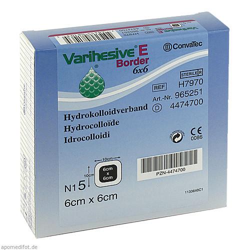VARIHESIVE E BORD HKV hydroaktiv 6X6CM, 5 ST, Convatec (Germany) GmbH