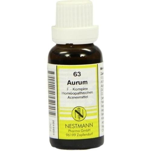 63 Aurum F Komplex, 20 ML, Nestmann Pharma GmbH