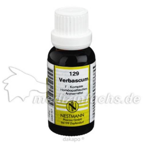 129 Verbascum F Komplex, 20 ML, Nestmann Pharma GmbH