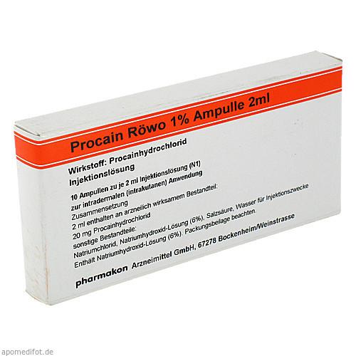 Procain Röwo 1% Ampulle 2ml, 10X2 ML, Medphano Arzneimittel GmbH