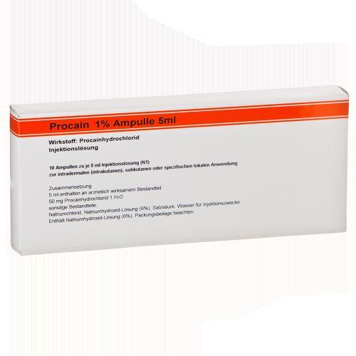 Procain Röwo 1% Ampulle 5ml, 10X5 ML, Medphano Arzneimittel GmbH