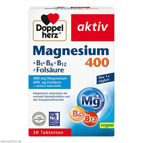 Doppelherz Magnesium 400mg, 30 ST, Queisser Pharma GmbH & Co. KG