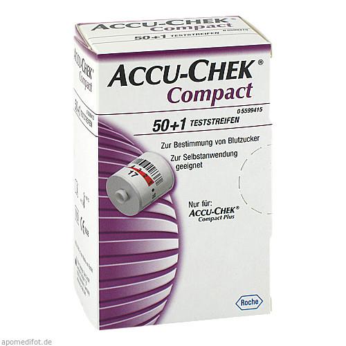 ACCU CHEK Compact plus Glucose Teststreifen, 50 ST, Actipart GmbH