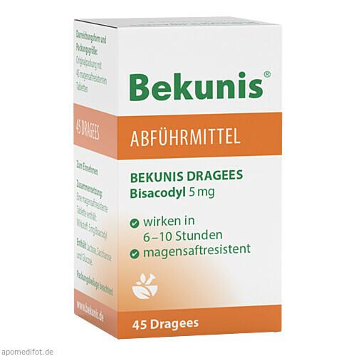 BEKUNIS DRAGEES BISACODYL 5mg, 45 ST, Roha Arzneimittel GmbH