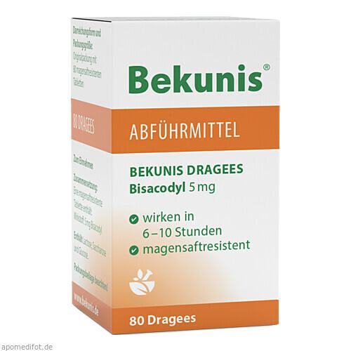 BEKUNIS DRAGEES BISACODYL 5mg, 80 ST, Roha Arzneimittel GmbH