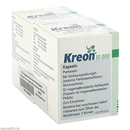 KREON 10.000 Hartkps.m.magensaftr.überz.Pellets, 100 ST, EurimPharm Arzneimittel GmbH