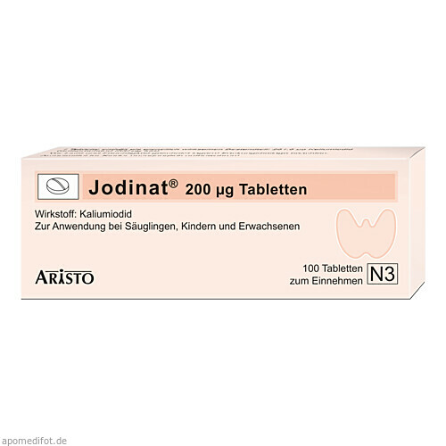 Jodinat 200ug Tabletten, 100 ST, Aristo Pharma GmbH