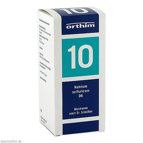Biochemie Orthim NR10 Natrium sulfuricum D 6, 400 ST, Orthim GmbH & Co. KG