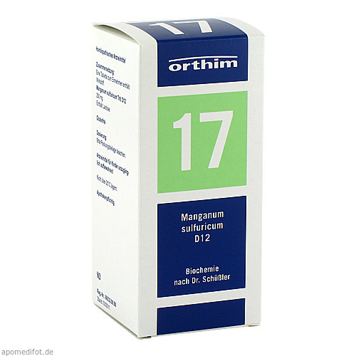 Biochemie Orthim NR17 Manganum sulfuricum D12, 400 ST, Orthim GmbH & Co. KG