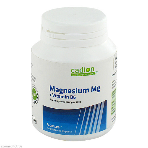 Cadion Magnesium Kapseln+B6, 90 ST, Cadion As Vertriebs GmbH