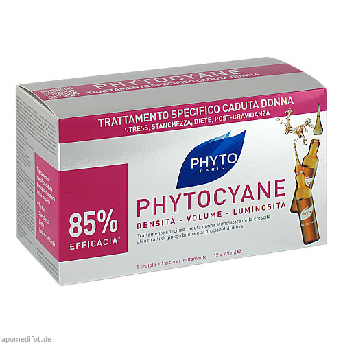 PHYTO PHYTOCYANE Kur Haarausfall, 12X7.5 ML, Ales Groupe Cosmetic Deutschland GmbH