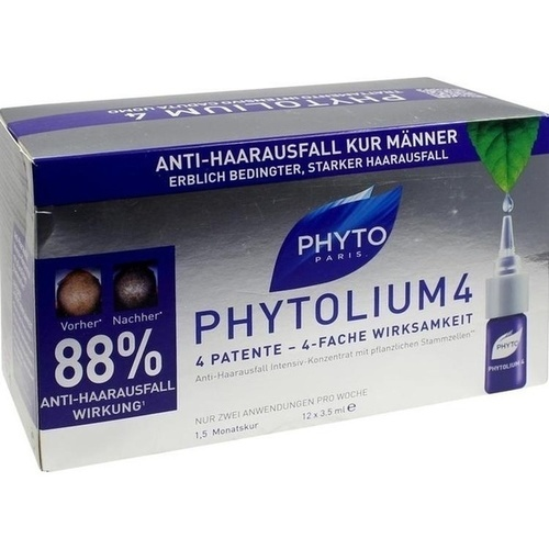 PHYTO PHYTOLIUM 4 Kur Haarausfall, 12X3.5 ML, Ales Groupe Cosmetic Deutschland GmbH