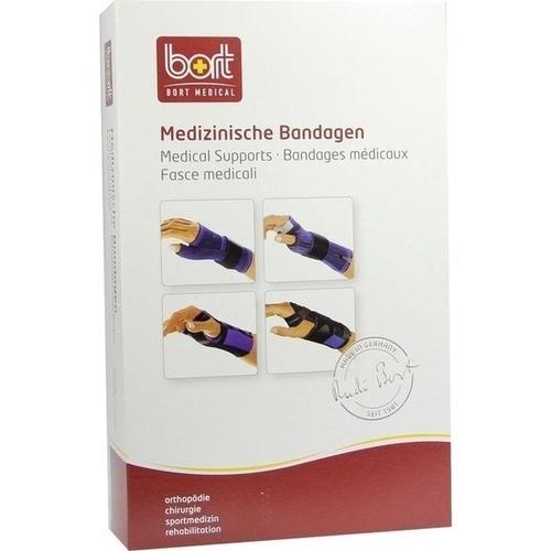 BORT Handgelenkstütze m. Daum u Band blau medium, 1 ST, Bort GmbH