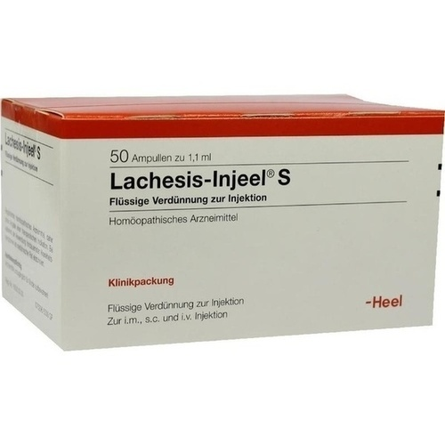 LACHESIS INJ S, 50 ST, Biologische Heilmittel Heel GmbH