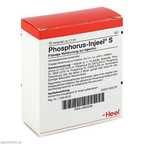PHOSPHORUS INJ S, 10 ST, Biologische Heilmittel Heel GmbH