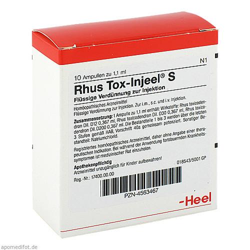 RHUS TOX INJ S, 10 ST, Biologische Heilmittel Heel GmbH