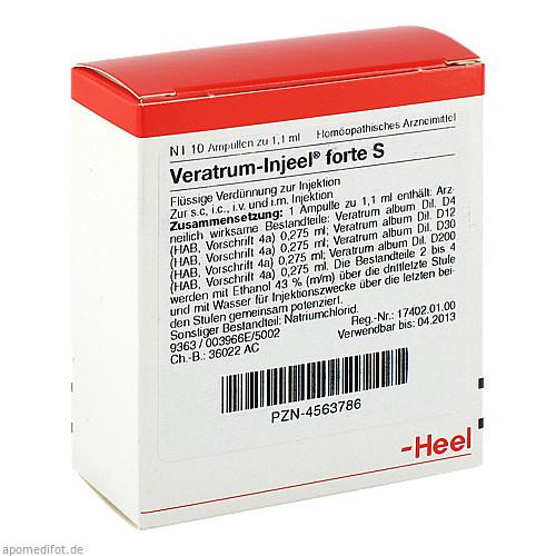 VERATRUM INJ FORTE S, 10 ST, Biologische Heilmittel Heel GmbH