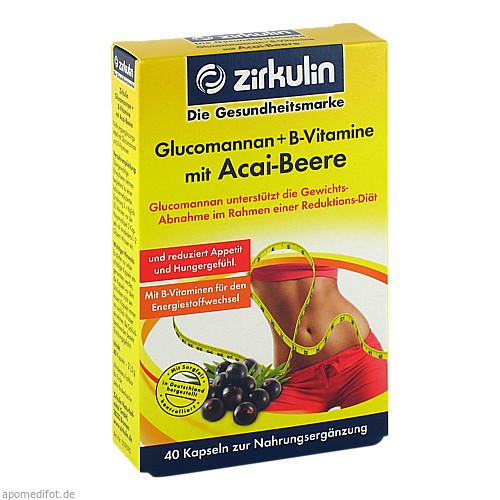 Glucomannan + B-Vitamine mit Acai-Beere, 40 ST, DISTRICON GmbH